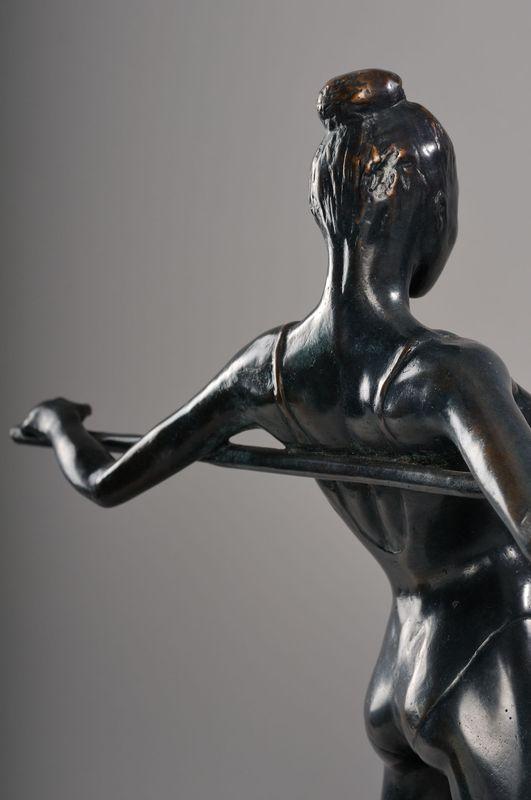 Danseuse Sculpture Bronze Chaland