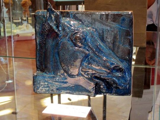 Cheval bleu Sculpture Chaland