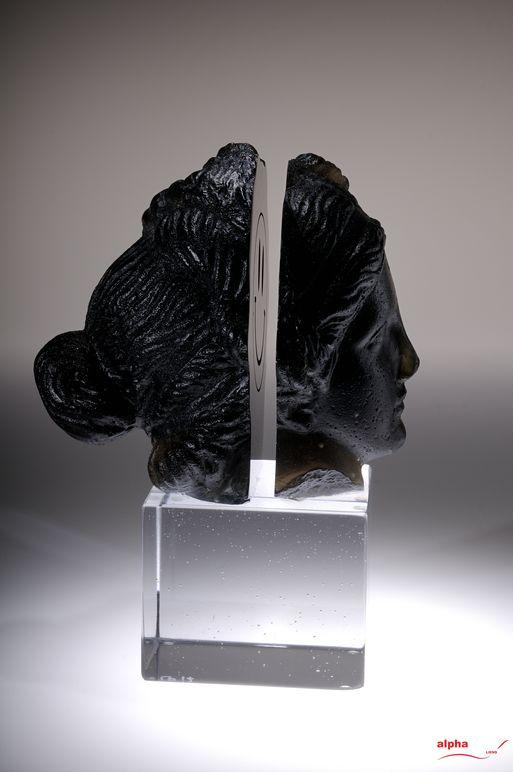 La belle et la bête Sculpture Chaland