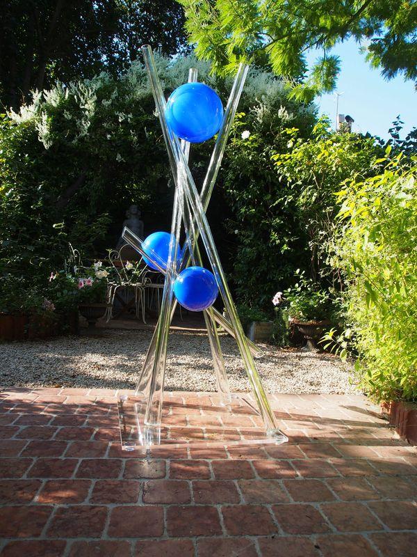 Bulles 1 Sculpture Verre Chaland