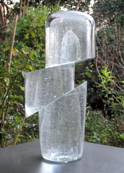 Comète Sculpture Verre Chaland