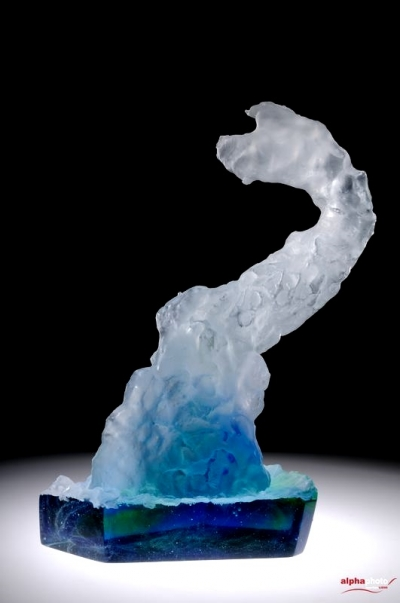 Introspection Sculpture Verre Chaland