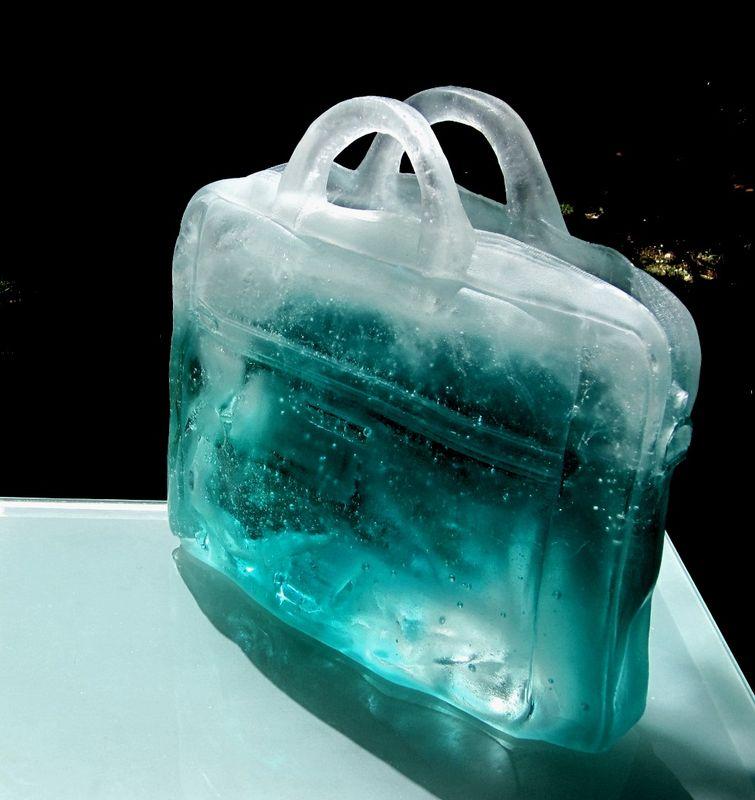 Sirene en sac - Sculpture Chaland Verre