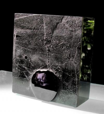 Soleil Noir Sculpture Verre Chaland