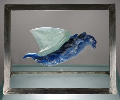 Vague 1 Sculpture Verre Chaland