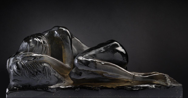 Sculpture Chaland Verre Danaïde