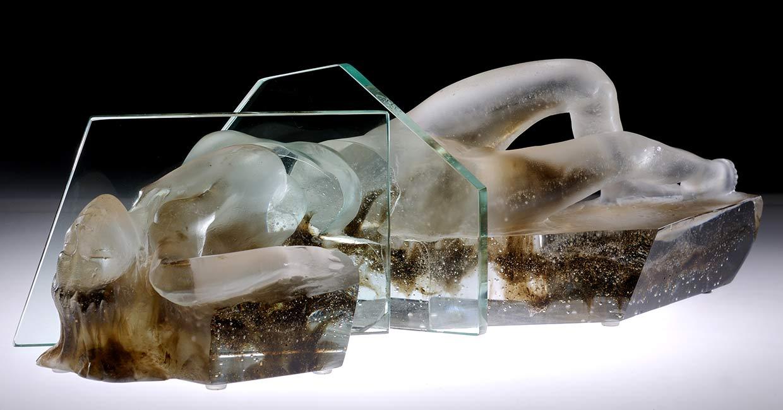 Eternel feminin Sculpture verre Chaland