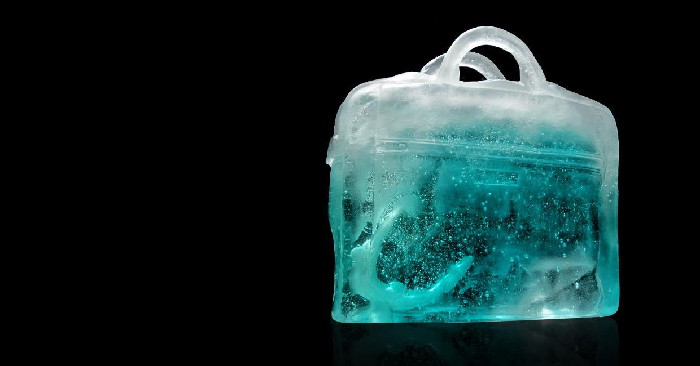 Sirène en sac Sculpture verre Chaland
