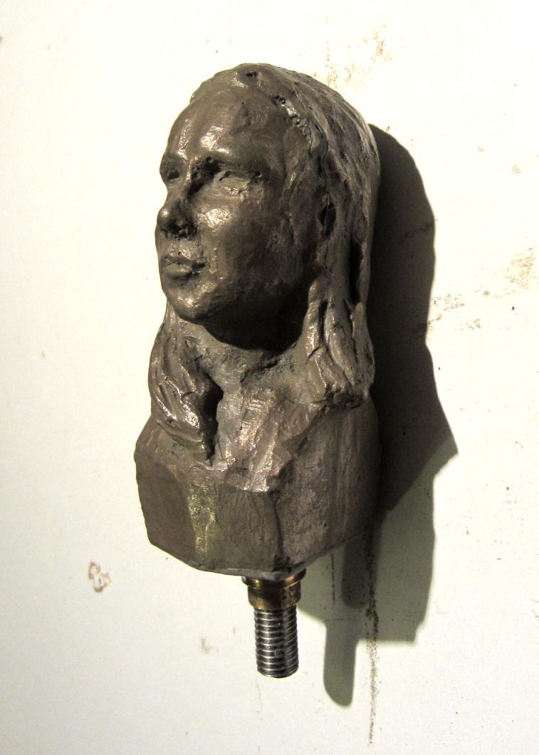 Portrait - pommeau d'une canne- Patrick Chaland